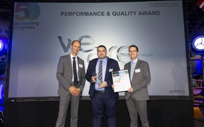 WeAre is rewarded by Airbus for its performance
