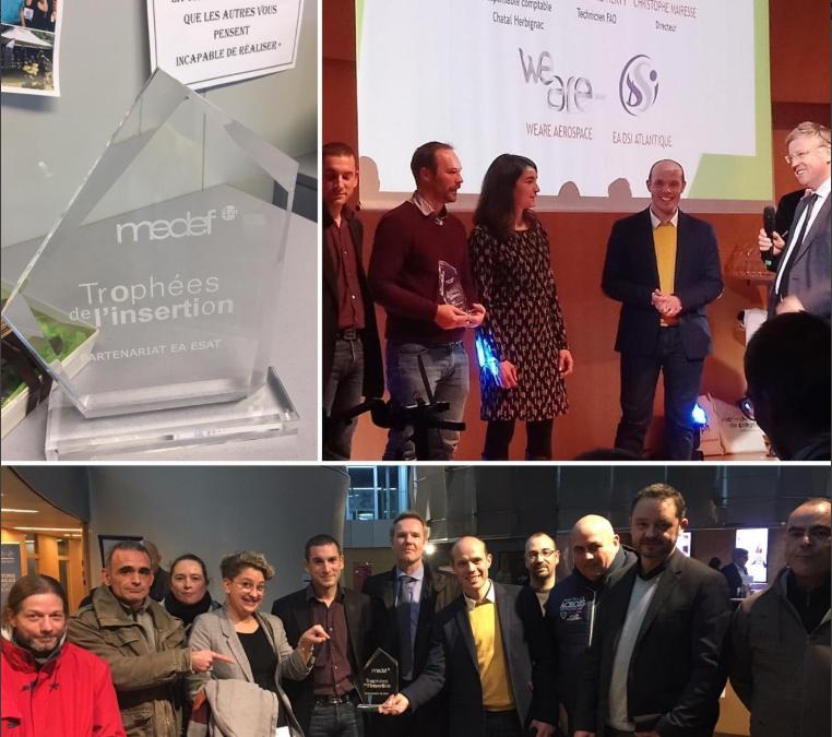 WeAre et DSI ont reçu un prix aux trophées de l'insertion du MEDEF 44